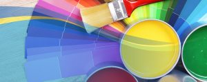 Web banner for HELOC showing paint cans