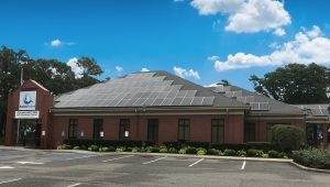 Riverhead Branch building with it's new Solar Panels