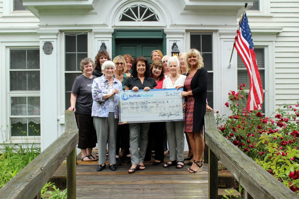 Sayville Improvement society check presentation