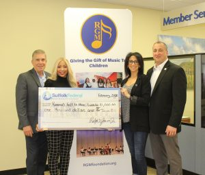 photo of representatives of Ramona's Gift of Music Foundation